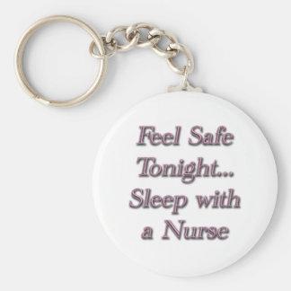 sleep with a nures basic round button keychain