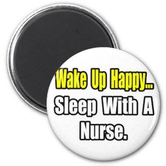 Sleep With a Nurse Fridge Magnet