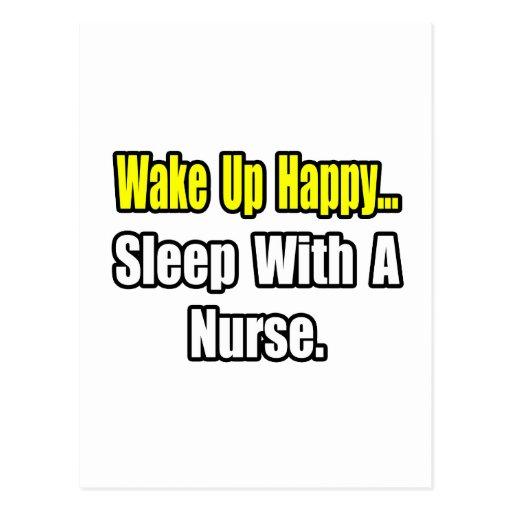 Sleep With a Nurse Postcard