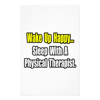 Sleep With A Physical Therapist Personalized Stationery