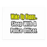 Sleep With a Police Officer Post Card