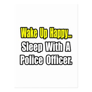 Sleep With a Police Officer Postcard