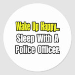 Sleep With a Police Officer Sticker
