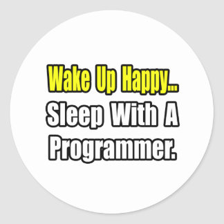 Sleep With a Programmer Stickers