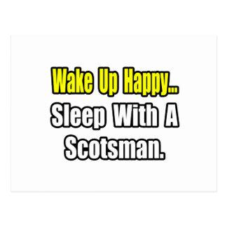 Sleep With a Scotsman Postcard