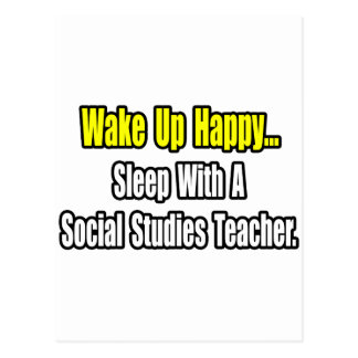 Sleep With A Social Studies Teacher Postcard