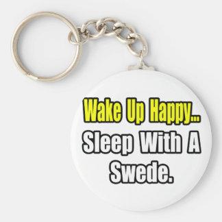 Sleep With a Swede Keychain