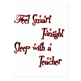 sleep with a teacher copy postcard