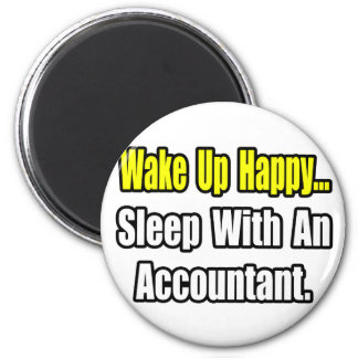 Sleep With An Accountant 2 Inch Round Magnet
