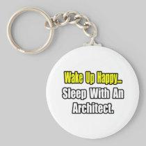 Sleep With an Architect Basic Round Button Keychain