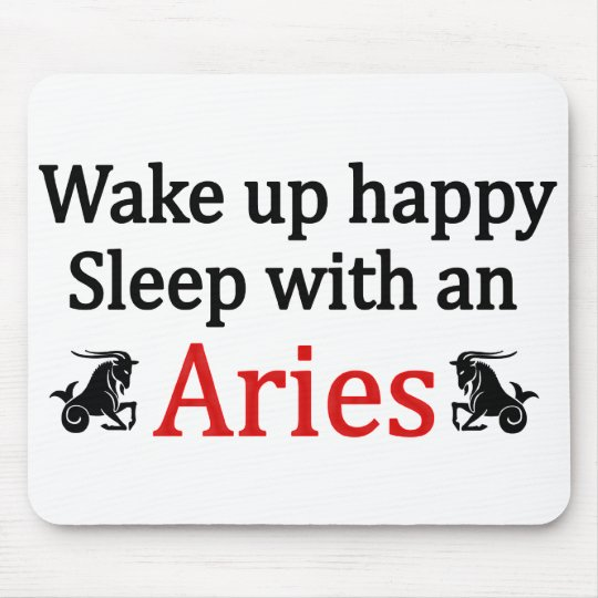 Sleep With An Aries Mouse Pad