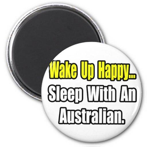 Sleep With an Australian 2 Inch Round Magnet