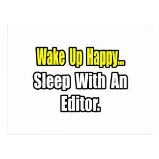 Sleep With an Editor Postcard