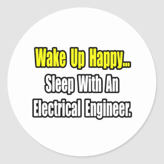 Sleep With An Electrical Engineer Classic Round Sticker