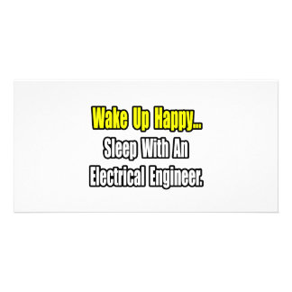 Sleep With An Electrical Engineer Photo Card Template