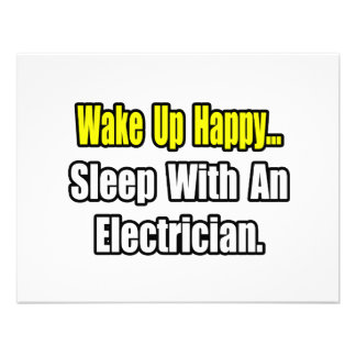 Sleep With an Electrician Personalized Invitation