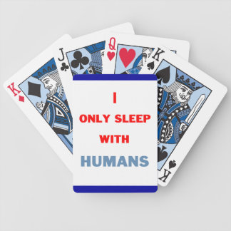 Sleep with Humans Bicycle Playing Cards