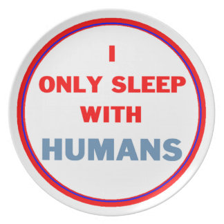 Sleep with Humans Party Plates