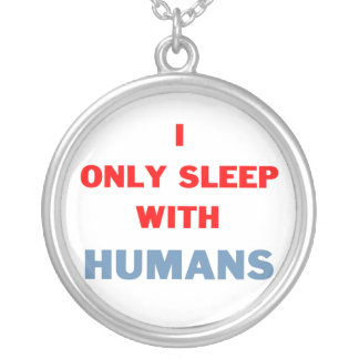 Sleep with Humans Silver Plated Necklace