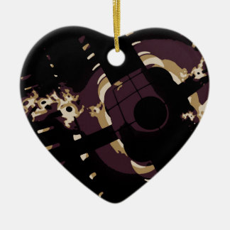 Sleep With One Eye Open Double-Sided Heart Ceramic Christmas Ornament