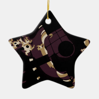 Sleep With One Eye Open Double-Sided Star Ceramic Christmas Ornament
