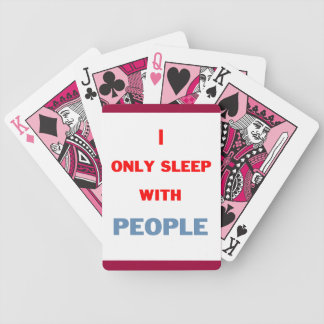 Sleep with People Bicycle Playing Cards