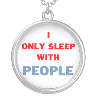 Sleep with People Silver Plated Necklace