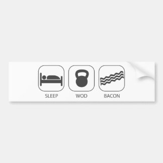 Sleep WOD Bacon - Workout And Weight Lifting Bumper Sticker