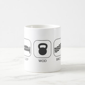 Sleep WOD Bacon - Workout And Weight Lifting Coffee Mug
