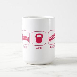 Sleep WOD Bacon - Workout And Weight Lifting Mugs