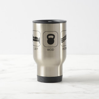Sleep WOD Bacon - Workout And Weight Lifting Travel Mug