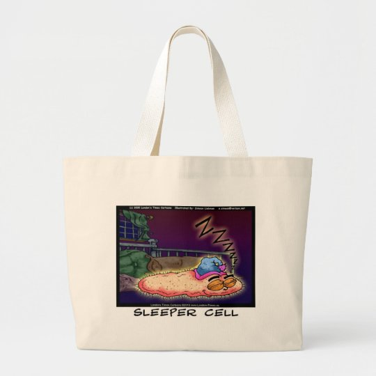 Sleeper Cell Funny Gifts Tees &  Collectibles Large Tote Bag