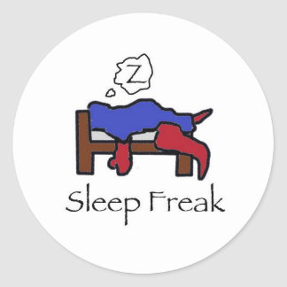 SleepFreak Classic Round Sticker