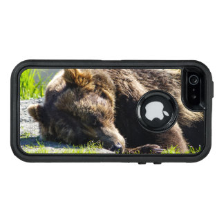 Sleeping Alaska Grizzly Bear OtterBox Defender iPhone Case