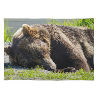 Sleeping Alaskan Grizzly Placemat