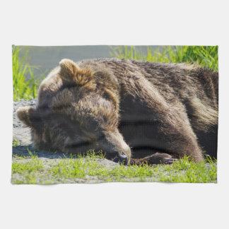 Sleeping Alaskan Grizzly Towel