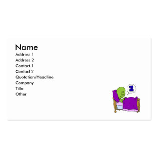 Sleeping Alien Double-Sided Standard Business Cards (Pack Of 100)