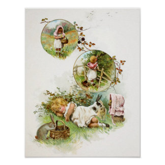 Sleeping and Dreaming of Bunny Rabbits Posters