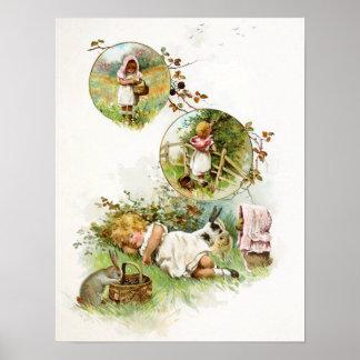 Sleeping and Dreaming of Bunny Rabbits Poster