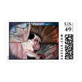Sleeping Angel Bully with Wings Postage