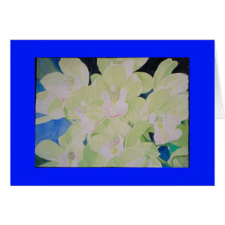 sleeping angel orchids greeting card