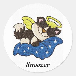 Sleeping Angel Snoozer - Peel Off Sticker