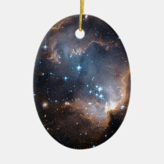 Sleeping Angel Star Cluster Ceramic Ornament