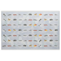 Sleeping Animals for Quilting Fabric