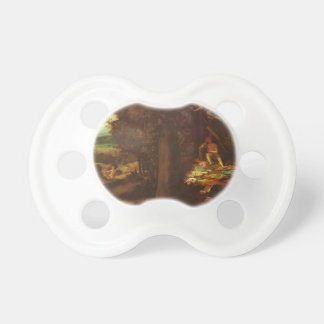 Sleeping Apollo, Muses and Fama by Lorenzo Lotto Baby Pacifier
