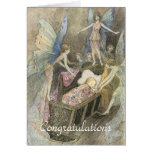 Sleeping Baby and Fairies Greeting Cards