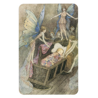 Sleeping Baby and Fairies Magnet