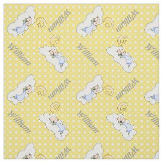Yellow polka dots fabric zazzle for Yellow baby fabric
