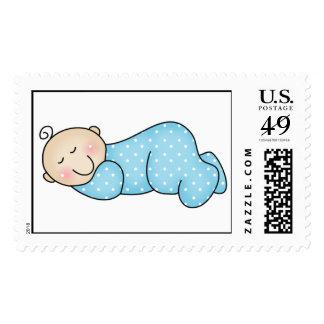 Sleeping Baby Boy Stamp