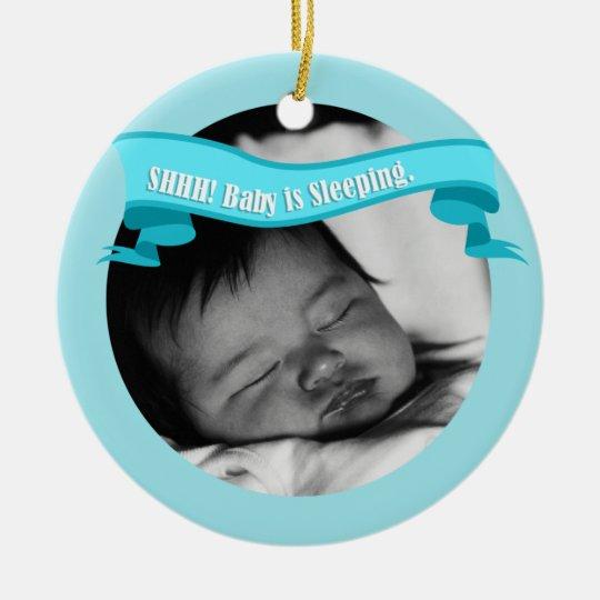 Sleeping Baby Boyl Door Hanger Sign Ceramic Ornament